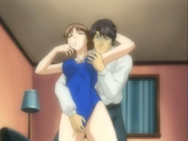 Irresistible anime girl getting undressed and nailed by her mature boyfriend