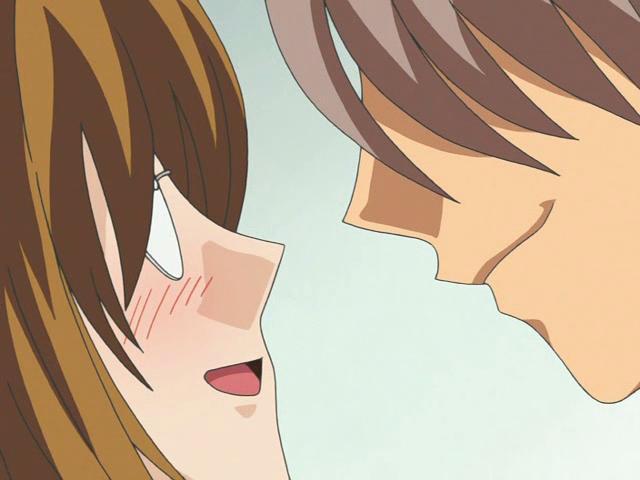 Captivating anime cutie in glasses slurping an immense schlong